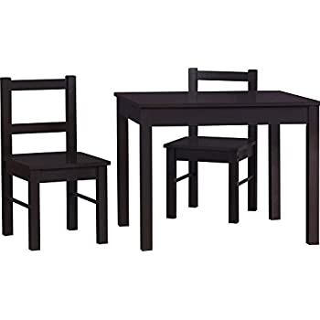 Cosco Hazel Kids Table and Chairs Set Espresso