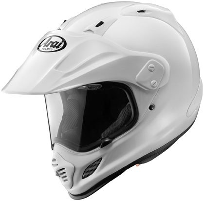 415SRQV%2BZGL Arai XD 4 White On / Off Road Helmet (M)