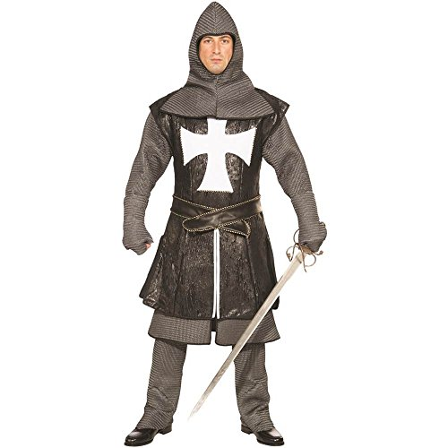 Medieval Black Knight Designer Adult Costume