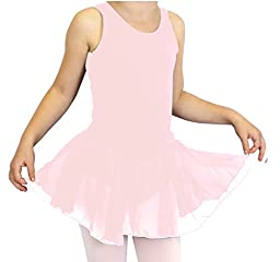 Basic Moves Big Girls Tank X-Back Leotard with Attached Skirt