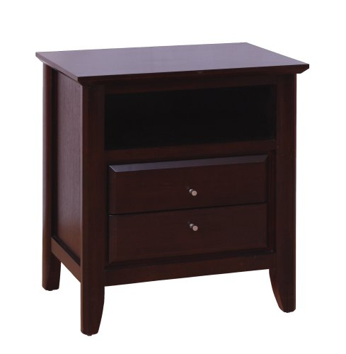Modus Furniture City Ii Two Drawer Nightstand, Coco front-441873
