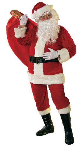 Rubie's Costume Velour Santa Suit with Beard and Wig