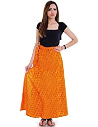 Shop Hatke Now Latest 2017 Ethnic Yellow Pure Cotton Wrap Around Skirt 119