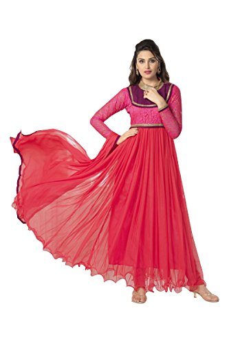 Suitsvilla Red Latest Frock Style Anarkali Suits