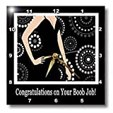 Congratulations on Your Boob Job, Black Dress on Dot Design – 13×13 Wall Clock