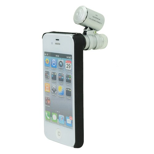 Brand New 60X Microscope With Led Light/Currency Detecting + Hard Case For Iphone 4