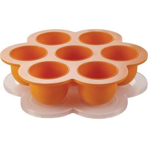 Beaba Multiportion Freezer Tray - Orange Color: Orange Newborn, Kid, Child, Childern, Infant, Baby