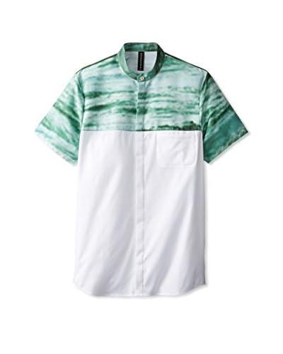 Rochambeau Men's Ocean Combo Band Collar Shirt