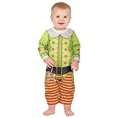 Infant Christmas Elf Longsleeve Bodysuit Romper