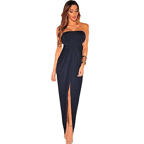 meinice Draped Hollow-out Maxi Dress Black Medium