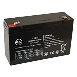 Sentry Lite SCR-525-EX 6V 12Ah Emergency Light Battery - This is an AJC Brand™ Replacement