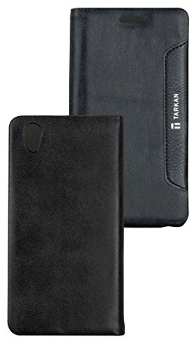 Tarkan Authentic Smart PU Leather Magnetic Flip Case Cover with Convertible Back Stand For Lenovo P70 - Black