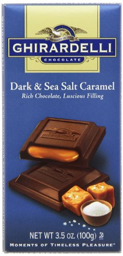Ghirardelli Chocolate Squares Bar, Dark and Sea Salt Caramel, 3.5-Ounce (Pack of 12) (Ghirardelli Sea Salt Chocolate compare prices)