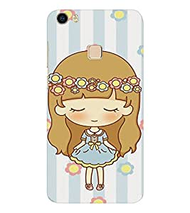 EPICCASE Sweet Baby Girl Mobile Back Case Cover For Vivo V3 Max (Designer Case)
