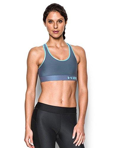 Under Armour Women's Mid Sports Bra, Aurora Purple (767), Medium