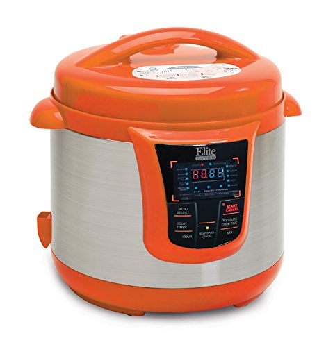 Elite Platinum EPC-808OR Maxi-Matic 8 Quart Electric Pressure Cooker, Orange (Stainless Steel) (Electric Rice Cooker 28 Cup compare prices)