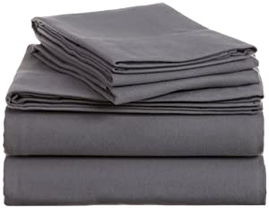 Pinzon Heavyweight Cotton Flannel Sheet Set - Queen, Graphite