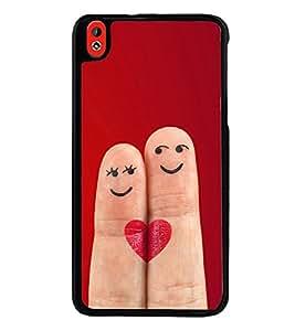 Printvisa Ultra Smiley Fingers 2D Hard Polycarbonate Designer Back Case Cover for HTC Desire ...
