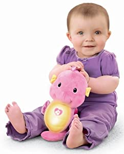 Fisher-Price Ocean Wonders Soothe and Glow Seahorse, Pink