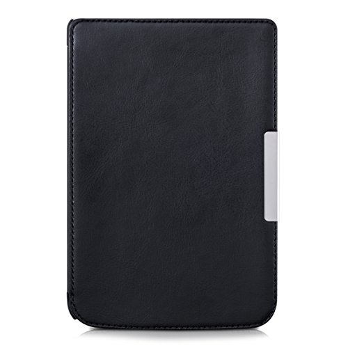 kwmobile Flip cover case for Pocketbook Aqua - imitation leather foldable case in black at Electronic-Readers.com