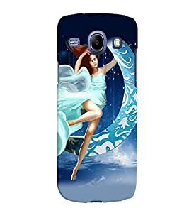 Fuson Moon Girl Back Case Cover for SAMSUNG GALAXY CORE I8260 - D4014