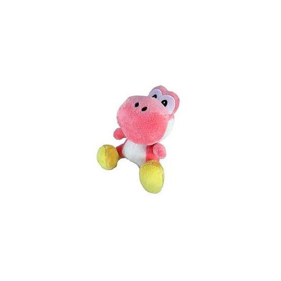 New Super Mario Bros. Wii 6 Inch Plush Pink Yoshi