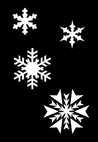 airbrush schablone weihnachten schneeflocken wanddeko. Black Bedroom Furniture Sets. Home Design Ideas