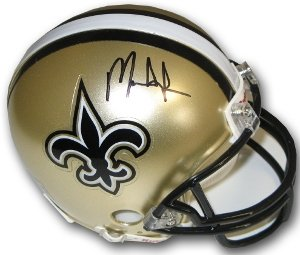Mark Ingram Autographed/Hand Signed New Orleans Saints Replica Mini Helmet- Ingram Hologram at Amazon.com
