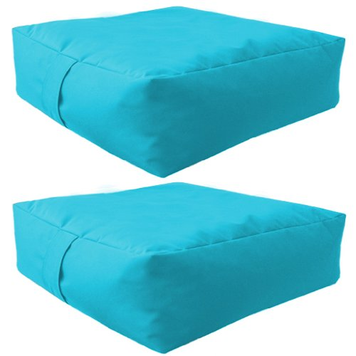 Sitzsack-Kissen, für Innen- und Außenbereich, wasserabweisend, erhältlich in 10 Farben, Türkis Sitzsack-Kissen, für Innen- und Außenbereich, wasserabweisend, erhältlich in 10 Farben, Türkis
