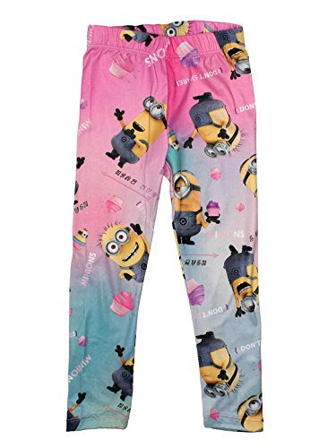 Minions Official Girls Legging 7/8 Years Pink