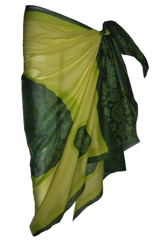 Green Sarong with Bandana Design