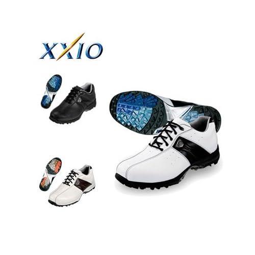 ダンロップ ゴルフ ゼクシオ GGS-X002 ゴルフシューズ ホワイト×ブラック/27.0cm