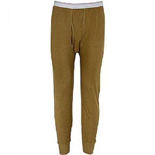 Indera - Mens Icetex Dual Face Fleeced Thermal Long John Pant, Khaki 23485