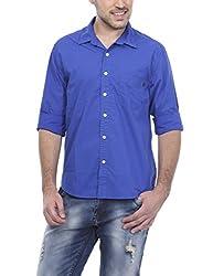 Bandit Royal Blue Slim fit Shirts