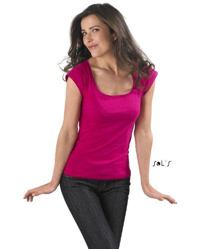 Sols - Melrose - Damen T-Shirt mit Flügelärmeln , Sky blue , S S,Sky Blue