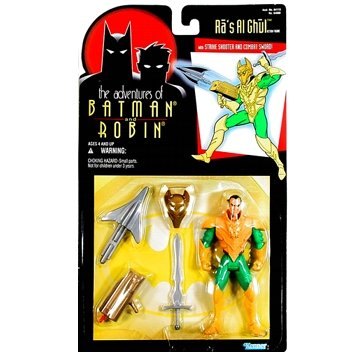 "BATMAN "" RA'S AL GHUL "" W/ STRIKE SHOOTER & COMBAT SWORD MOC"