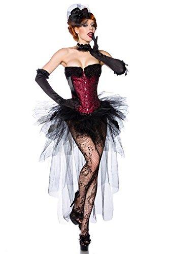 Vintage con gonna in tulle rosa, fascia elastica, colore: nero/beige nero S/M