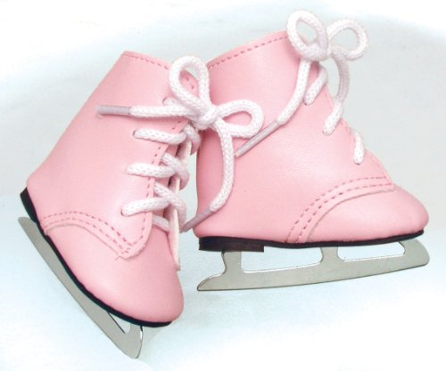 Fits American Girls Pink Dolls Ice Skates for 18 Inch Dolls Made by Sophia's - 1