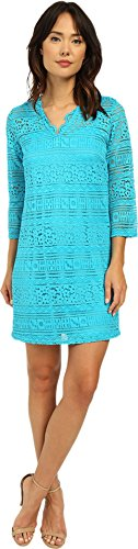 Christin Michaels Women's Ocean Breeze Lace Dress Malibu Blue Dress 12 (Malibu Breeze Dress compare prices)
