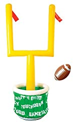 Beistle 50083 1-Pack Inflatable Goal Post Cooler with Football for Parties, 28-Inch Width by 6-Feet
