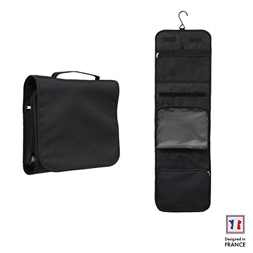 travel-hanging-wash-bag-by-walden-open-compact-mens-womens-kids-black-toiletry-bag-with-sturdy-hook-