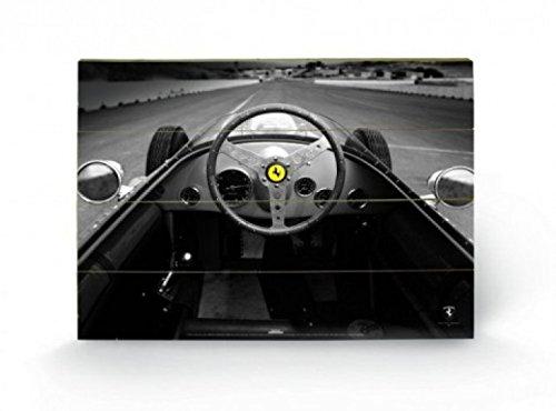 Formula 1 - Vintage Quarter Mile, Ferrari F1 Cuadro De Madera (60 x 40cm)