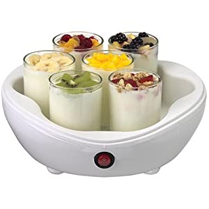 Salton YM7 42-Ounce Electric Yogurt Maker with 7 Glass Jars