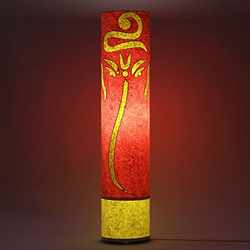 craftter-pagadi-ganesh-orange-and-yellow-35-inch-long-cylinderical-cylinderical-artistic-floor-lamps