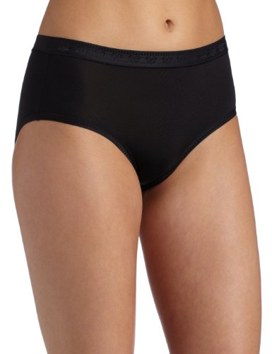Vanity Fair Women's Smooth Moves Hipster Panty, Midnight Black, 7
