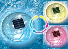 Hydro Tools 85107 Color Changing Floating Solar Rainbow Pool Light
