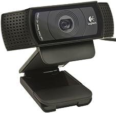 Logitech HD Pro C920 Webcam Full HD 1080p avec microphone intégré compatible Youtube/Twitter/Facebook Noir
