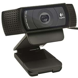Logitech C920 USB HD Pro Webcam (Autofokus, Mikrofon) schwarz