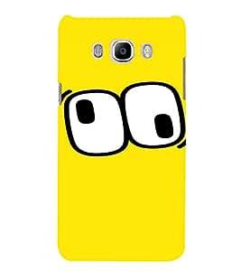 PrintVisa Cartoon Eyes Emotion 3D Hard Polycarbonate Designer Back Case Cover for Samsung Galaxy J7 2016 Edition