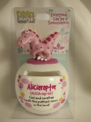 Dinomate Saveasaurus Money Jar - Aliciaraptor - Alicia * Bank Piggy Save Gift - 1